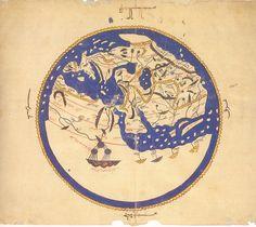 http://web.archive.org/web/20091022141156/http://geocities.com/pieterderideaux/idris_worldmap.html Mapa mundi de una zona. Al Idrisi