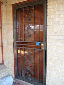 Corsica Wrought Iron Patio Security Doors Model