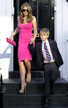 Elizabeth Hurley Photos: Elizabeth Hurley in Pink - Celebrity Fashion Trends