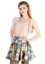 Mink Pink Auroral Floral Skirt | Mod Retro Vintage Skirts | ModCloth.com