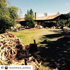 Repost @tsuchikara_pottery with @repostapp.  To make it happen richard carterstudio kiln rebuilding  Wood-firing workshop \ by woodfiredpotterykilns