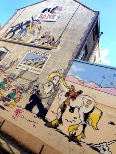 3d Street Art, Pop Art, Graffiti, Building Painting, Banksy, Brussels, Urban Art, Comic Strips, Cartoon Characters