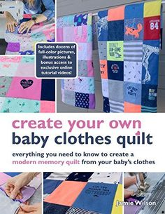 Looking for a DIY baby clothes quilt pattern? Wonder how to make a baby clothes memory quilt? Check out our DIY baby quilt tutorials, kit, books and videos! Quilt Baby, Onesie Quilt, Shirt Quilts, Diy Baby Clothes Memory Quilt, Baby Memory Quilt, Memory Quilts, Baby Outfits, Baby Quilt Tutorials, Quilts Online