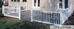 Nice white bufftech vinyl railing with colonial balusters