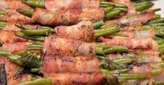 Fagiolini arrotolati nel bacon affumicato