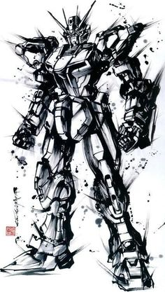 Gundam pencil drawing