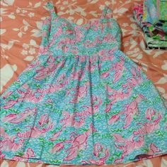 Lilly Pulitzer Lobstah roll Ardleigh Dress Lobster Size 8, but can also fit size 10. A little snug in my chest for comfort. Would like to trade for a SC briella in medium or large to wear for a wedding, or will sell only. $200 ️️ which includes priority shipping (medium size box), insurance, and associated ️️fees. *Found a 10 for $278 and am recouping most of what I paid for it* Lilly Pulitzer Dresses