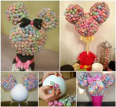 Mickey & Minnie Mouse Lollipop Centerpiece for a Disney Party!