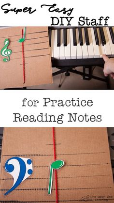 We practice reading notes by using our simple homemade staff notes slider. Educational Activities For Kids, Music Activities, Kids Learning, Music For Kids, Good Music, Reading Notes, Music And Movement, Piano Teaching, Music Therapy