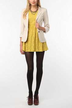 Love lace. Love yellow. Would probably wear with boots though.