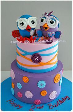 Hoot and Hootabelle kids birthday cake
