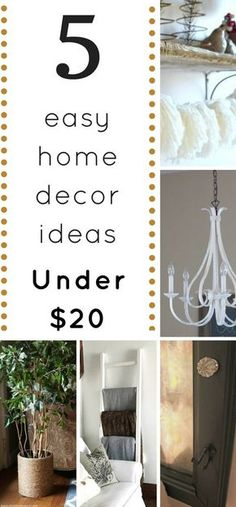 Five of the best home decor ideas to DIY for LESS than $20 - home decor   DIY   Budget   Easy  