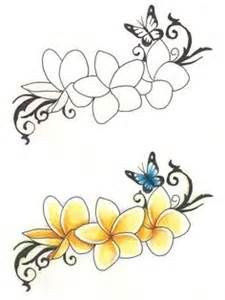 Plumeria butterfly ribbon tattoo - Bing images