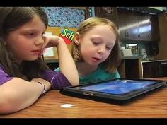 """In this video you'll see how a first grade classroom uses the iPad to learn literacy skills:    * Digital Flash Cards (Photos) to practice sight word recognition  * """"Dr. Suess: The Cat in the Hat"""" app to practice reading fluency/echo reading  * """"Puppet Pals"""" App to practice writing/expression/speaking"""
