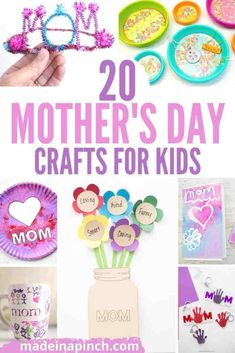 Mother's day is such a special time for celebrating being a mom. Looking for that perfect Mother's Day gift? Check out these 20 adorable (and useful!) Mother's Day Crafts for Kids! They also make great birthday and Christmas gifts for women. Make these Mother's Day gift ideas for all ages from toddlers to teens. #motherday #kidsactivities #kidscrafts #mothersdaycraft #kidsartproject #mothersdaycrafts | Made in A Pinch @madeinapinch Easy Mother's Day Crafts, Mothers Day Crafts For Kids, Diy Mothers Day Gifts, Crafts For Teens, Special Gifts For Mom, Great Gifts For Mom, Gifts For Kids, Mother Christmas Gifts, Christmas Gifts For Women