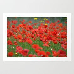 Poppy field 1820 Art Print by metamorphosa - $22.88