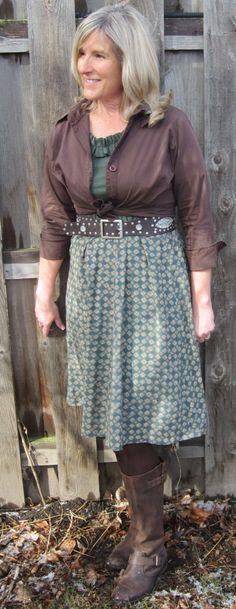 (DIY dress and shirt refashion