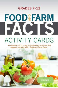 New Food and Farm Facts activity cards for grades 7-12! Available on agfoundation.org under Resources then Food & Farm Facts!