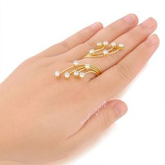 Fashion Round Zircon Finger Ring Size 789 Adjust Copper Alloy Women's Gift R1003 #Bearfamilybirth #Cocktail