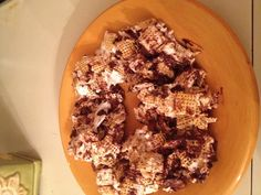 """Glueten free, dairy free, soy free, egg free, peanut free, rice free ... """"chex  bars"""" 1.Corn chex.  2.Coconut oil. 3.Marshmallows  4.soy dairy  free choc chips"""