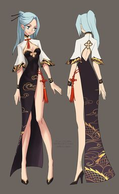 My entries to the Blade & Soul chinese server Server's second costume design contest.=D costumes designed by me,Ziyoling Female Character Design, Character Design Inspiration, Character Art, Girls Characters, Female Characters, Drawing Anime Clothes, Hero Costumes, Anime Costumes, Anime Dress