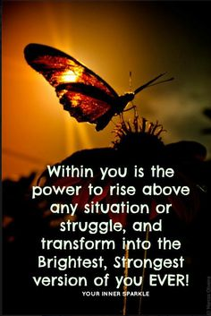the transforming power to rise above