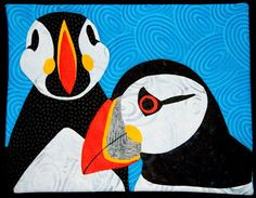 The Objects of Design: Puffin quilt. 8.5X11 inches. Phone service out a...