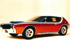 1968 AMC AMX GT Concept... 68 amx!!! That was my first dream car my senior year.. Then I drove next to a rouche and it sounded.... Soooooooooooooooo..... Niicccceeeeee