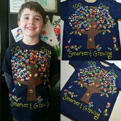100 days of school shirt 100 Days Of School Project Kindergartens, 100 Day Of School Project, School Projects, Projects For Kids, Crafts For Kids, School Ideas, School Spirit Shirts, School Shirts, 100 Day Shirt Ideas