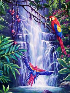 Tropical Paradise by Ed Breeding - Tropical Paradise Painting ...
