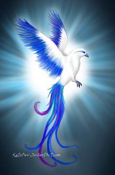 ice phoenix | Magic ice phoenix by KatePaw
