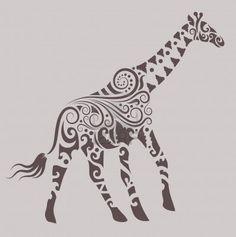 Giraffe ornament Stock Photo