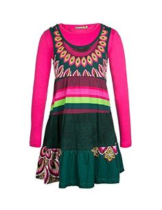 Desigual Lome - Robe - Imprimé - Fille - Rose (Fuchsia Rose) - FR: 10 ans (Taille fabricant: 9/10) Desigual http://www.amazon.fr/dp/B00VK0JX66/ref=cm_sw_r_pi_dp_pwX8vb13SA7VJ