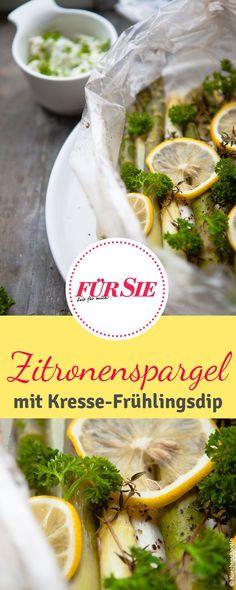 Rezept für Zitronenspargel-Duett mit Kresse-Frühlingsdip