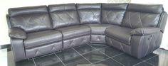 Designer brown Manual reclining 4 piece corner (63) £899