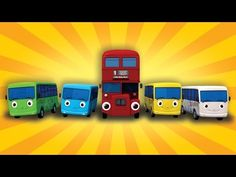 Ten Little Buses | From Wheels On The Bus | Nursery Rhymes | by LittleBabyBum - YouTube