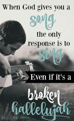 Just keep singing...