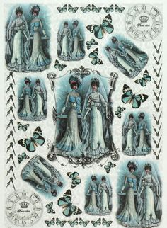 Rice Paper for Decoupage Decopatch Scrapbook Craft Sheet Vintage Old Wedding