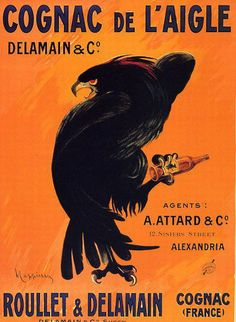Cognac de l'aigle - France  #poster #ads #vintage
