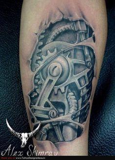 Tattooed boyz hammering asses painfully