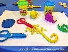 Play-doh Scissor Practice Activity.