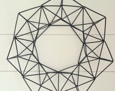 Items similar to set of 2 Geometric Garlands - 9 & feet Long - Finnish himmeli mobile on Etsy Wire Art, Accent Pieces, Wreaths, Unique Jewelry, Handmade Gifts, Garlands, Crafts, Etsy, Vintage