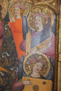 Juan de Peralta (actief in Castilië omstreeks 1416) - kroning van Maria (detail) ca. 1440 - Musée Rigaud Perpignan