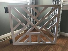 Geometric Gate - Cat Door - Pet Security Gate - Modern Baby Gate - Barn Door Pet Gate - Reclaimed Wood - Wooden Baby Gate - Dog Gate - by LumberLovin on Etsy Diy Dog Gate, Barn Door Baby Gate, Diy Baby Gate, Pet Gate, Dog Gates, Wooden Baby Gates, Basement Doors, Basement Stair, Stairs