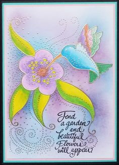 Laurel Burch collection from Stampendous. Gold embossed before colouring. Julie Makela