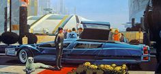 """Syd Mead, (born 1933 US) is a """"visual futurist"""" and concept artist. He is best known for his designs for science-fiction films such as Blade Ruuner, Aliens and Tron. Of his work, Mead was once moved to comment: """"I've called science fiction 'reality ahead of schedule.' - Wikipedia.  He is the undisputed master of futuristic concept art."""