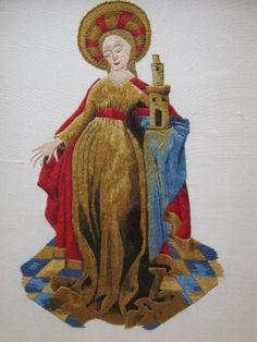 Silk Shading -RSN Diploma Durham - St Barbara - Pippa Foulds