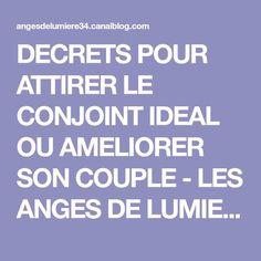 DECRETS POUR ATTIRER LE CONJOINT IDEAL OU AMELIORER SON COUPLE - LES ANGES DE LUMIERE 34 ET LES RAYONS SACRES