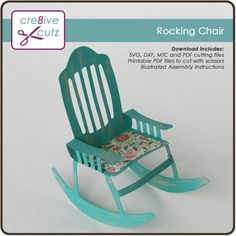 Rocking Chair – Cre8ive Cutz Birthday Gift Cards, Happy Birthday Gifts, Subscription Gifts, Pocket Scrapbooking, 3d Projects, Project Ideas, Silhouette Files, Digital Stamps, Step By Step Instructions