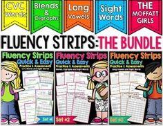 Reading Fluency strips packet